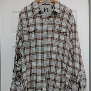 Mens Timberland Lined Plaid Shirt LS XXL
